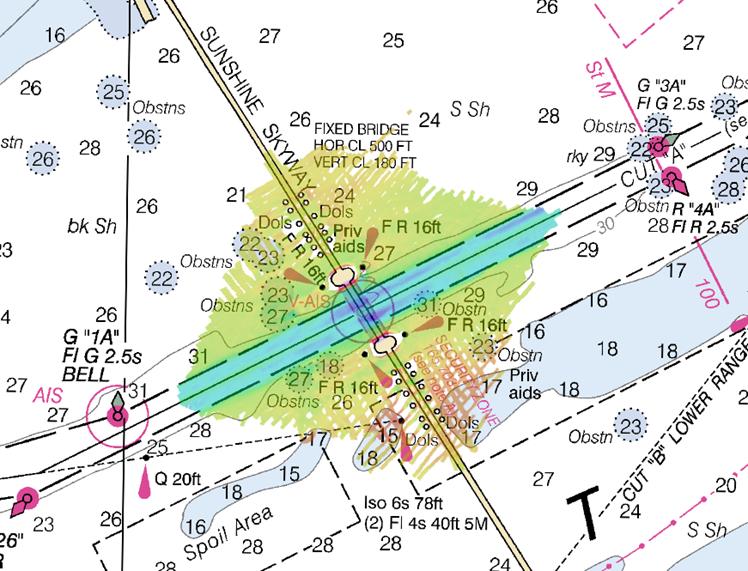Multibeam echo sounder coverage. Credit: NOAA