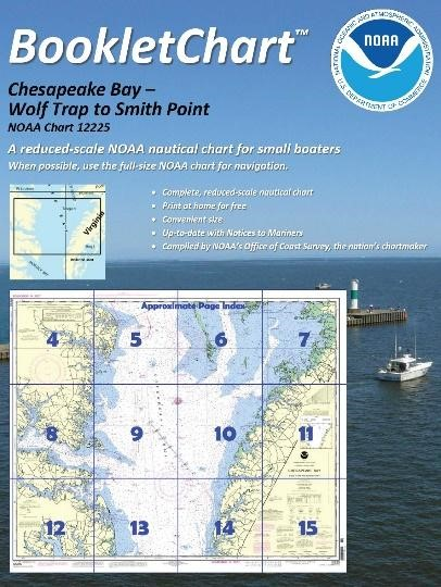 "Booklet charts are reduced scale copies of NOAA paper nautical charts divided into a set of a dozen 8.5"" x 11"" pages that show different portions of a chart."