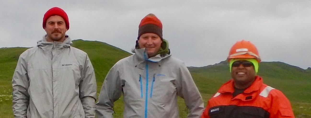 Kurt Mueller and survey technicians
