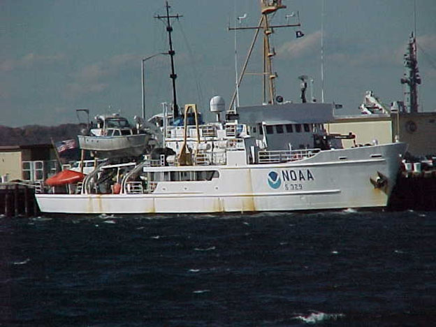 NOAA Ship Whiting alongside during the Egypt Air Flight 990 response effort.