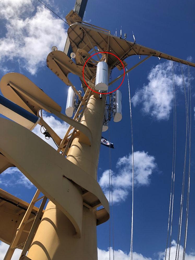 Rainier's mast.