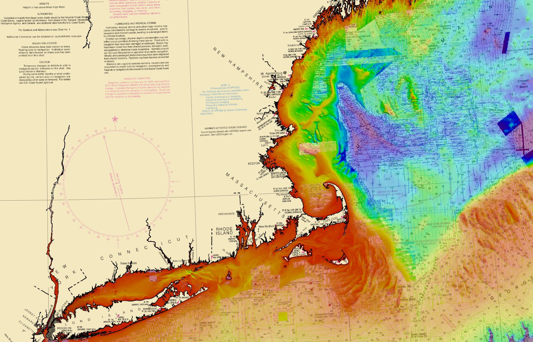 A preliminary build of the bathymetry for New England.