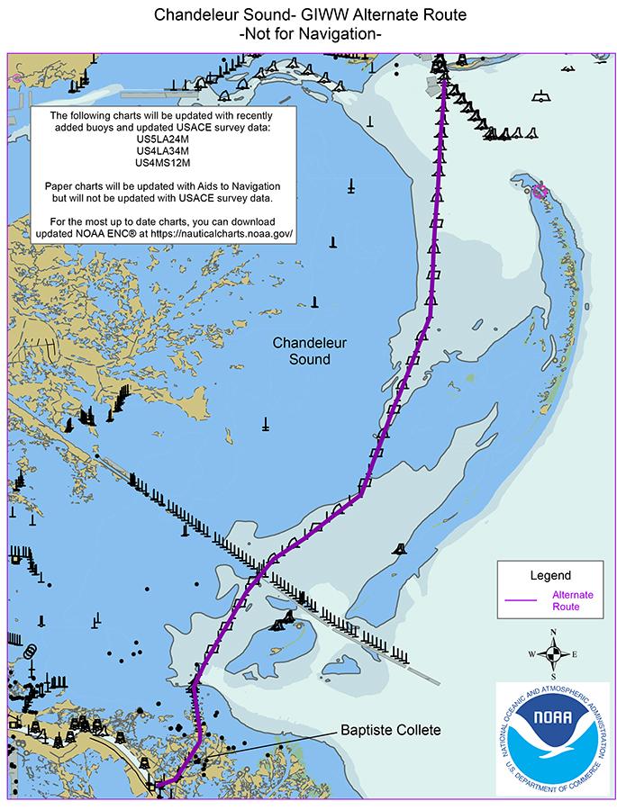 Chandeleur Sound Gulf Intracoastal Waterway alternate route.