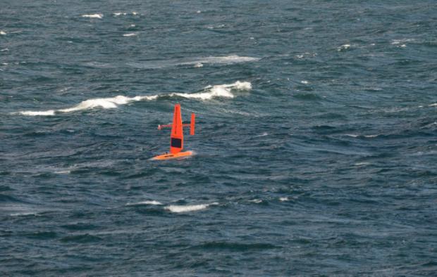 Generation 4 saildrone transiting through the Chukchi Sea.